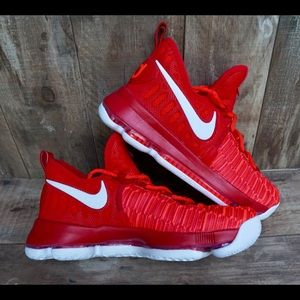 Nike Zoom KD9 Kevin Durant Red Basketball Shoes